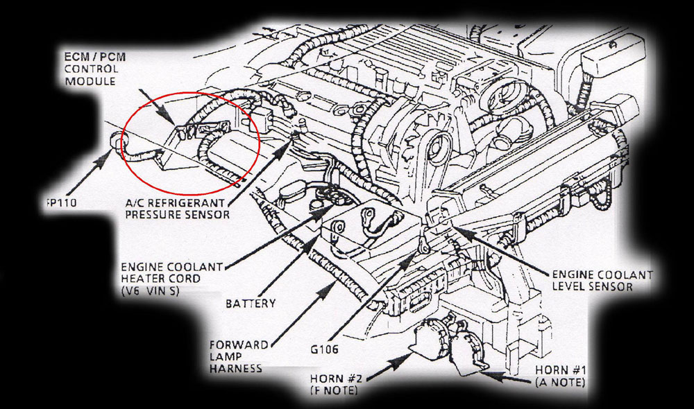1976 corvette engine compartment diagram 1996 corvette engine compartment diagram computer location diagrams
