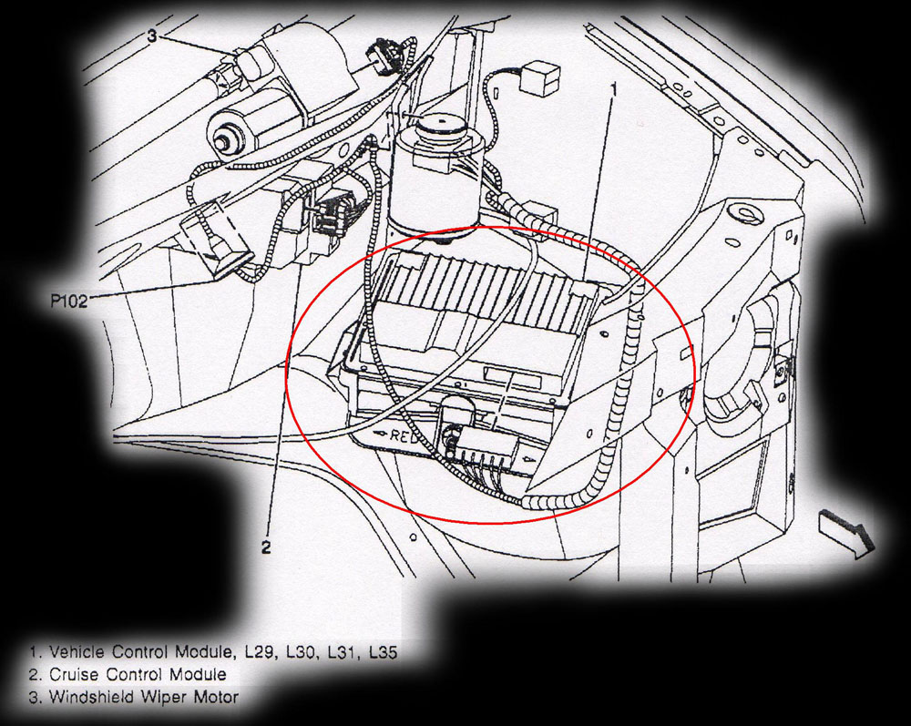 puter location diagrams 2000 Buick Century Blower Motor 1996 2000 gm truck